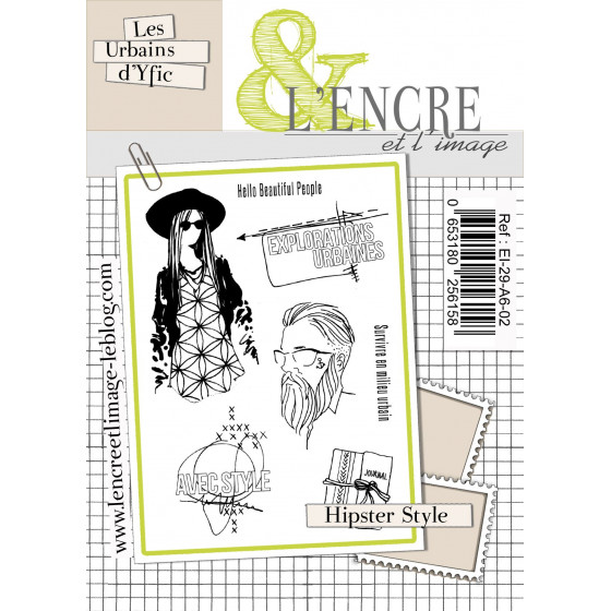 Tampon clear Hipster Style - L'Encre et l'Image