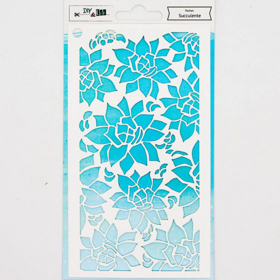 Stencil Succulente - DIY and Cie