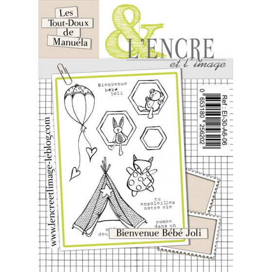 Clear Stamp Welcome Home Baby ! -  L'Encre et l'Image