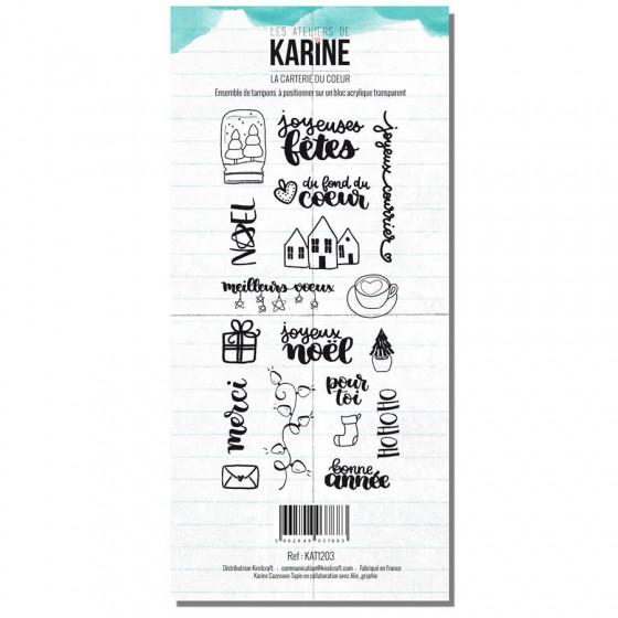 Tampon clear Carte Blanche La carterie du coeur- Les Ateliers de Karine