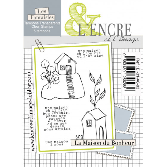 Clear Stamp The House of Happiness - L'Encre et l'Image