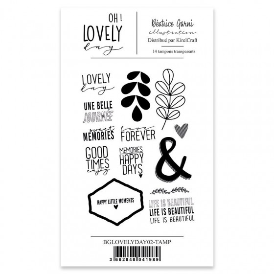 Clear Stamp 2 Oh Lovely Day - Béatrice Garni
