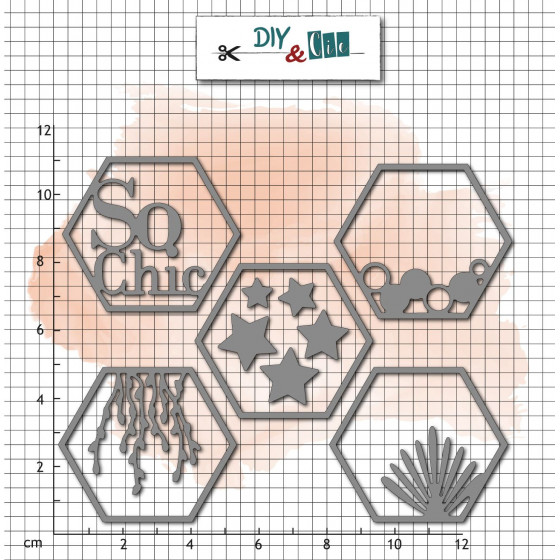 Dies Hexagones So chic - DIY and Cie