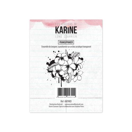 Clear Stamp Long Courrier Frangipanier- Les Ateliers de Karine