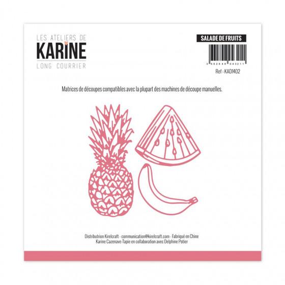 Dies Long Courrier Salade de fruits-Les Ateliers de Karine