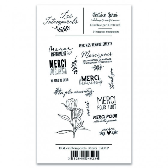 Clear Stamps 1 Les Intemporels - Thank You- Béatrice Garni