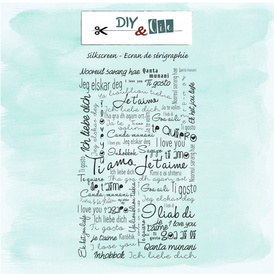 Silkscreen : Je t'aime - DIY and Cie