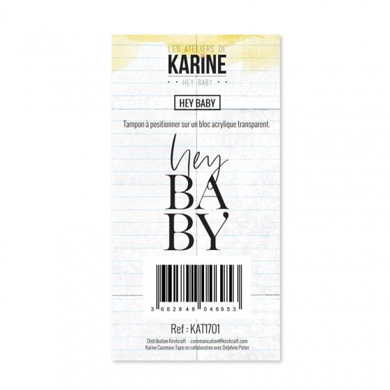 Clear Stamp Hey Baby Hey Baby- Les Ateliers de Karine