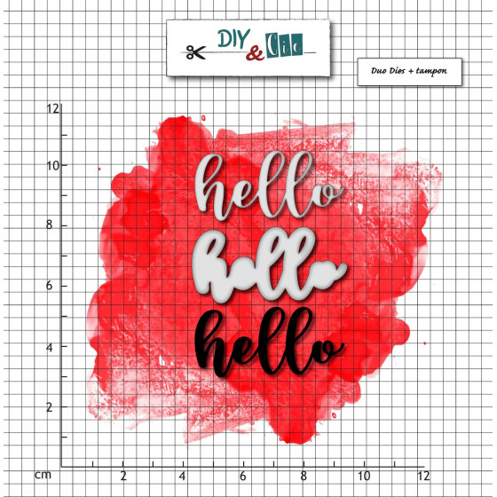 Dies et tampons Hello- DIY and Cie