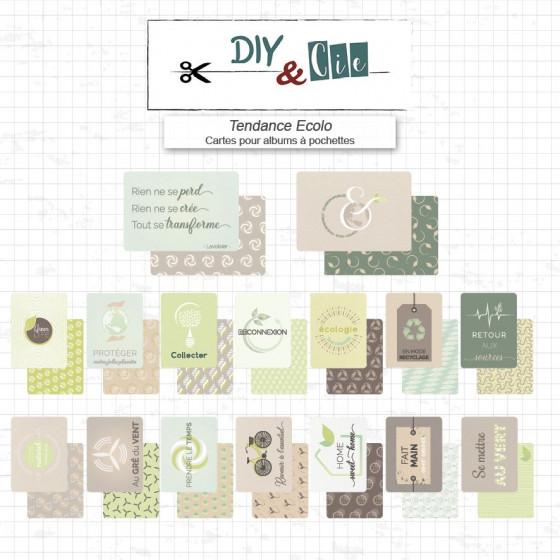 Set de cartes Project Life : Tendance écolo - DIY and Cie