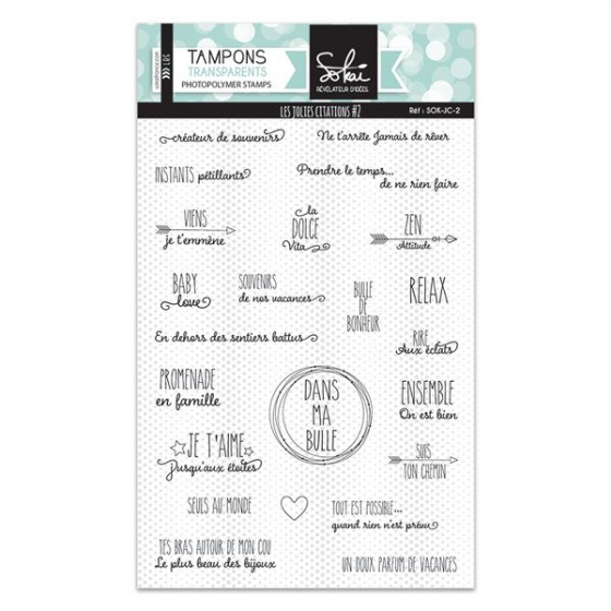 Clear stamps Les jolies citations - SOKAI