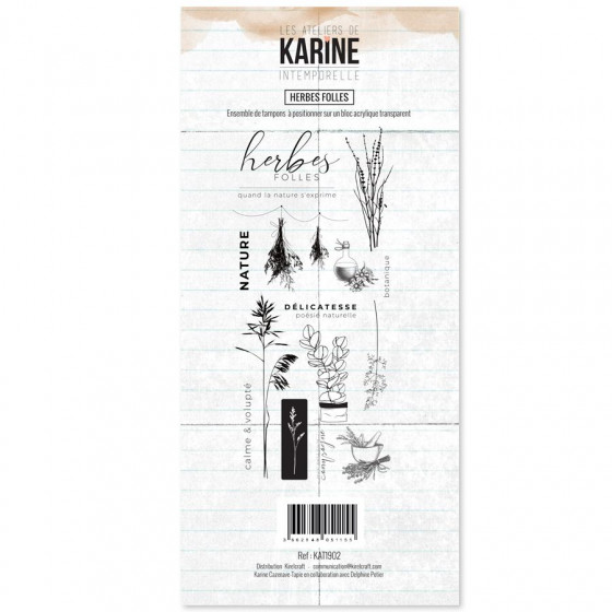 Clear Stamp Intemporelle Herbes Folles - Les Ateliers de Karine