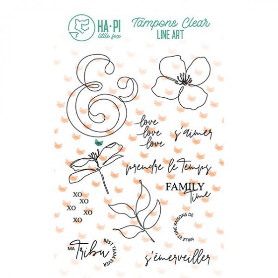 Clear stamps Ma tribu - HA PI Little Fox