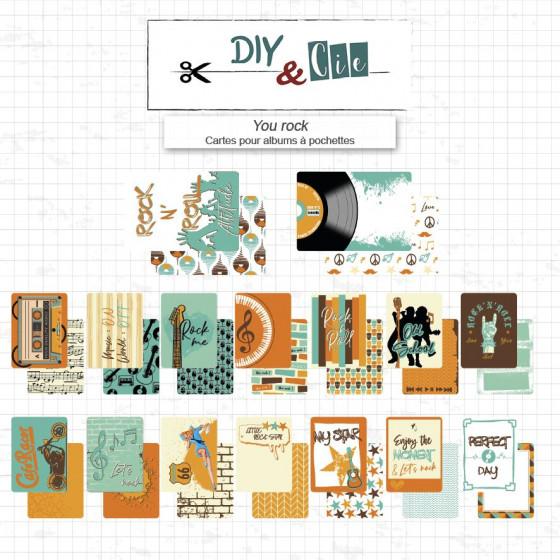 Set de Cartes Project Life : You rock - DIY and Cie