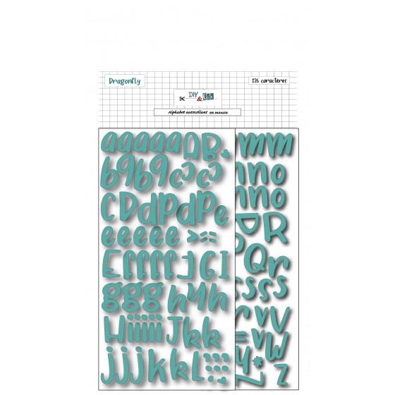 Alphabet adhésif en mousse : Turquoise - DIY and Cie