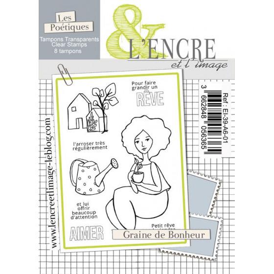 Tampon clear - Graine de Bonheur - L'Encre et l'Image