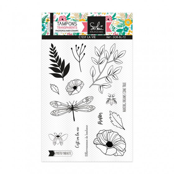 Clear stamps SO'BLOOM 'C'est la vie' - SOKAI
