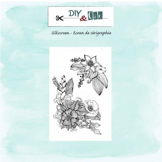 Silkscreen : Parterre de fleurs - DIY and Cie