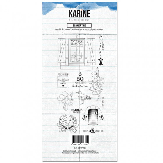 Tampon clear A contre courant Summer Time - Les Ateliers de Karine