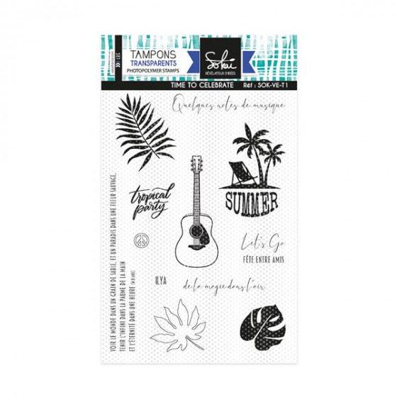 Clear stamps Voila l'été : Time to celebrate - SOKAI
